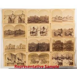 1876 Centennial International Exhibition Stereoviews: Exteriors (25)  (50995)