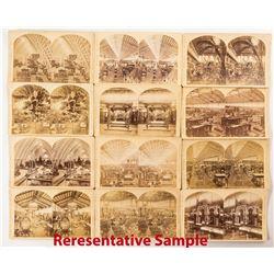 1876 Centennial International Exhibition Stereoviews: Interiors & Exhibits (25)  (50994)