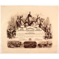 World Fair Centennial Exposition U.S. Stock Certificate-Large  (59668)