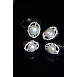 Natural Japanese Pearl Jewelry Set