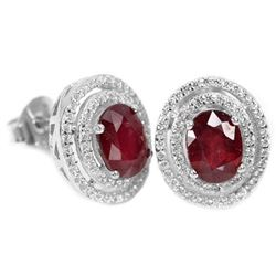 GENUINE BLOOD RED RUBY Earrings