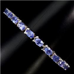 Natural Blue Violet Tanzanite 64.20 Ct  Bracelet