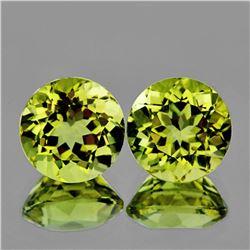 Natural Green Gold Lemon Quartz Pair 8.00 MM - VVS