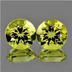 Natural Green Gold Lemon Quartz Pair 10.00 MM - VVS