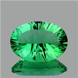 Natural Emerald Green Fluorite 14.20 Ct {Flawless-VVS1}