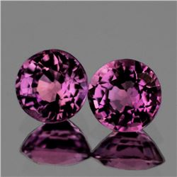 Natural AAA Violet Pink Burma Spinel Pair 6 MM - FL