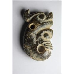 Antique Chinese Jade HongShan Union Pig-Dragon Pendant