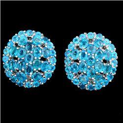 Natural Paraiba Blue Apatite 54 Cts Earrings