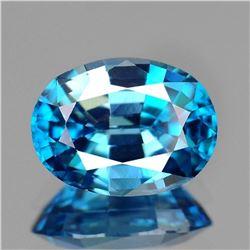 Natural Top Electric Blue Zircon 2.89 Ct - FL