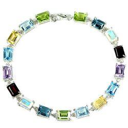 Natural AMETHYST GARNET PERIDOT  TOPAZ Bracelet