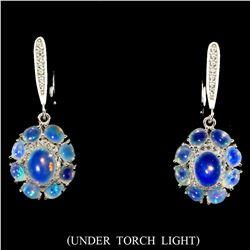 Natural Firing Rainbow Ethopian Opal Earrings