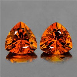 Natural MADEIRA ORANGE CITRINE PAIR - FL