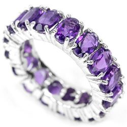 NATURAL AAA PURPLE AMETHYST Ring