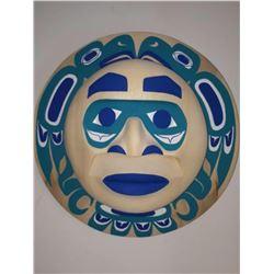 West Coast Native Blue Moon Mask with Eagle Spirit