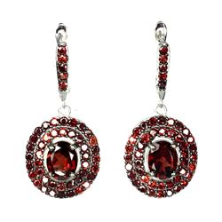Natural Oval 9x7mm Mozambique Garnet Earring