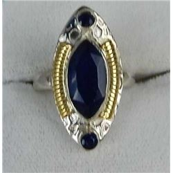 GORGEOUS 5 CT BLUE SAPPHIRE RING