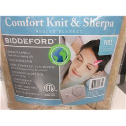 New FULL Heated Blanket comfort knit & sherpa Machine wash & dry