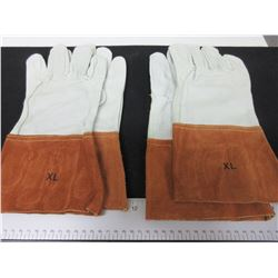 2 Pair of Mig/Tig Welding Gloves Top Grain Leather size XL msrp 24.95ea