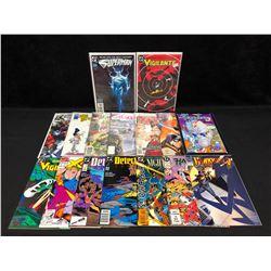 COMIC BOOK LOT (VIGILANTE/ SUPERMAN/ DETECTIVE COMICS...)