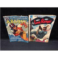 VINTAGE COMIC BOOK LOT (LONE RANGER/ ARGOSY)