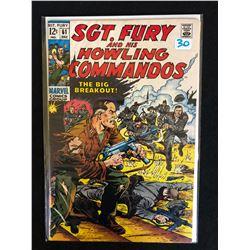 SGT. FURY AND HIS HOWLING COMMANDOS #61 (MARVEL COMICS)
