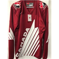 BRAND NEW WITH TAGS TEAM CANADA JERSEY WITH EVANDER KANE SIGNED NUMBER
