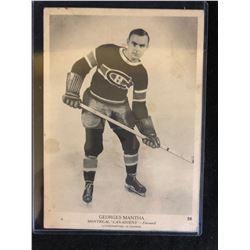 ORIGINAL 1935 CROWN BRAND GEORGES MANTHA 5 X 7 CARD