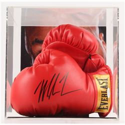 MIKE TYSON SIGNED BOXING GLOVES IN DISPLAY CASE ( JSA COA)