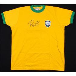 PELE SIGNED BRAZIL SOCCER JERSEY ( PSA COA