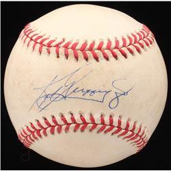KEN GRIFFY JR SIGNED BASEBALL (JSA LOA)