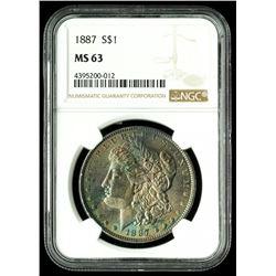 1887 MS 63 US MORGAN SILVER DOLLAR