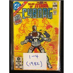 1982 TALES OF TITANS CYBORG #1-4 (DC COMICS)