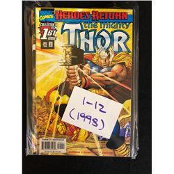 1998 THE MIGHTY THOR #1-12 (MARVEL COMICS)