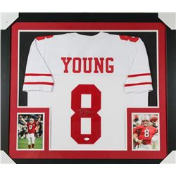CUSTOM FRAMED STEVE YOUNG SIGNED 49ERS JERSEY (JSA COA)