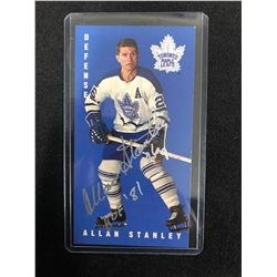 ALAN STANLEY AUTOGRAPHED TALL BOY HOCKEY CARD