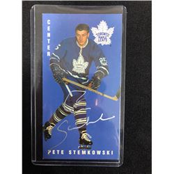 PETE STEMKOWSKI AUTOGRAPHED TALL BOY HOCKEY CARD