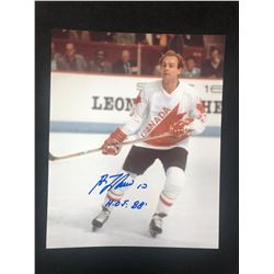 "GUY LAFLEUR AUTOGRAPHED 8"" X 10 COLOR PHOTO (TEAM CANADA)"