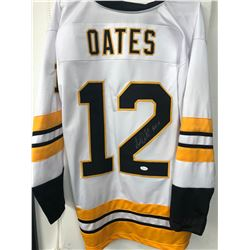 "Adam Oates Signed Bruins Jersey Inscribed ""HOF 12"" (JSA COA)"