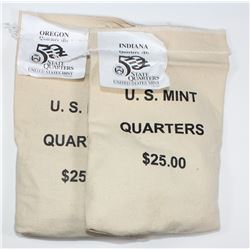 (2) BAGS MINT SEALED STATE QUARTERS