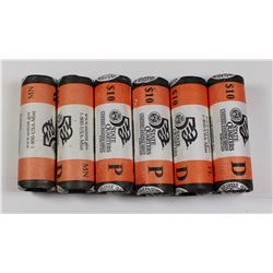 6-ROLLS SEALED BANK WRAPPED STATE QUARTERS