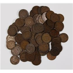 100 MIXED NICE CIRCULATED INDIAN CENTS