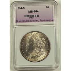 1894-S MORGAN SILVER DOLLAR NGP