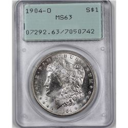 1904-O MORGAN SILVER DOLLAR PCGS MS 63