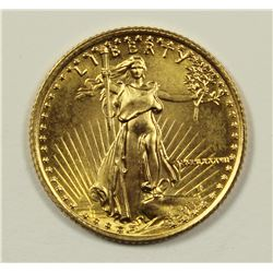 1987 1/10 OZ GOLD EAGLE $5