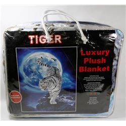 "NEW ""TIGER"" LUXURY PLUSH BLANKET"