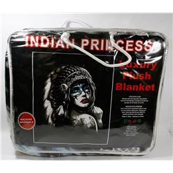 "NEW ""INDIAN PRINCESS"" LUXURY PLUSH BLANKET"