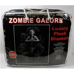 "NEW ""ZOMBIE GALORE"" LUXURY PLUSH BLANKET"