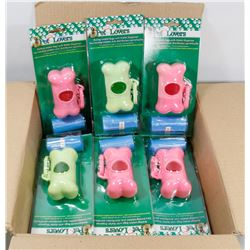 CASE OF 24 PET LOVERS POOP BAGS