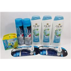 BAG OF VENUS RAZORS, OLAY BODY WASH, AND MORE