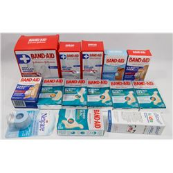 BAG OF ASSORTED FIRST AID HOME SUPPLIES